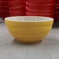 ชามลายคลื่น 4.5″ เหลือง