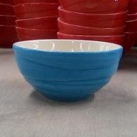 ชามลายคลื่น 4.5″ สีฟ้า