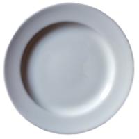 จานริมเชฟ 8 นิ้ว สีขาว