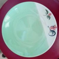 จานไก่ทูโทน 8 นิ้ว สีเขียว