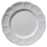 White irontone Plate 8-inch