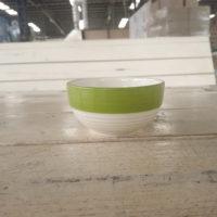 ชามลายเส้น 3″ สีเขียว