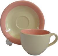 แก้วกาแฟพร้อมจานรอง-วนสีส้ม