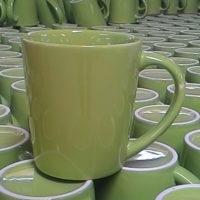 แก้วกาแฟ 250 cc.สีเขียว