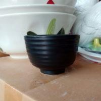 ถ้วยกลมสีดำ size 4″