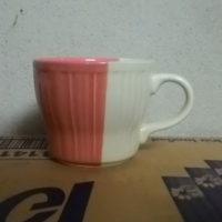 แก้วกาแฟทูโทนสีแดง