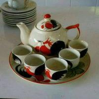 ชุดกาน้ำชาเล็ก-ลายไก่