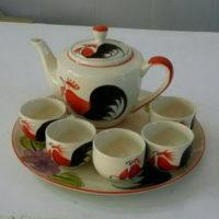 ชุดกาน้ำชาใหญ่-ลายไก่